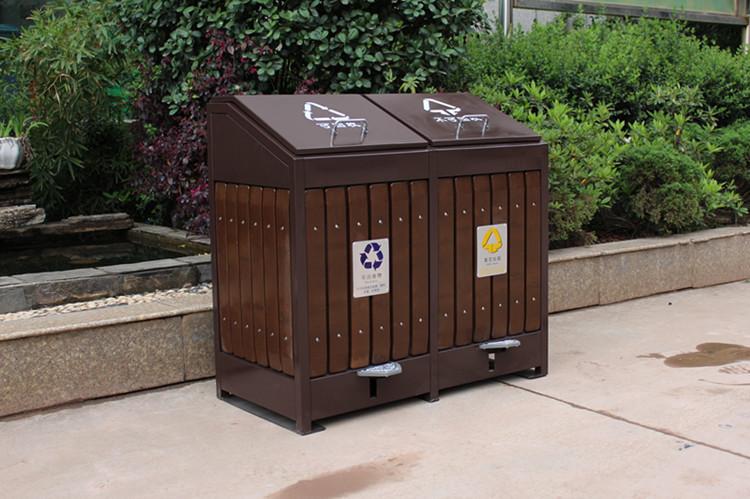 景區用鋼木垃圾桶