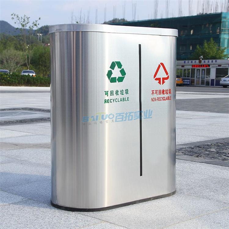 不锈钢户外垃圾桶展示图