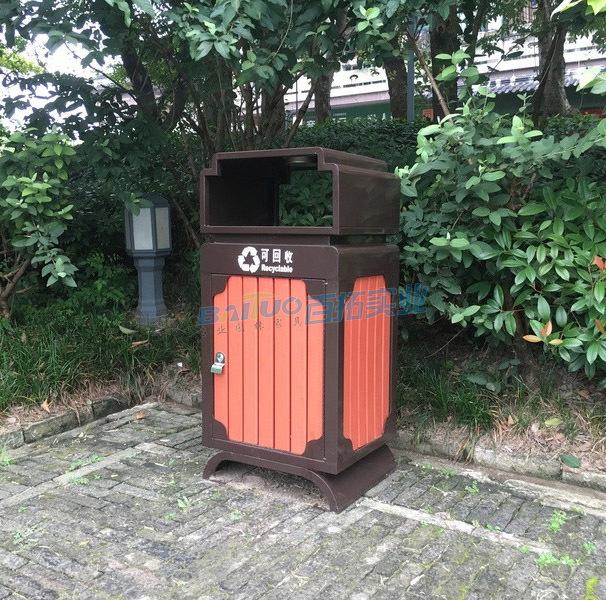 旅游景区生态垃圾桶单桶展示图