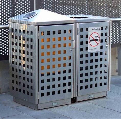 不锈钢户外创意垃圾桶