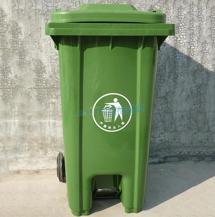 户外大号垃圾桶街道实物图