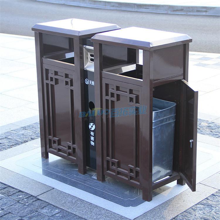 別墅戶外垃圾桶側面結構圖