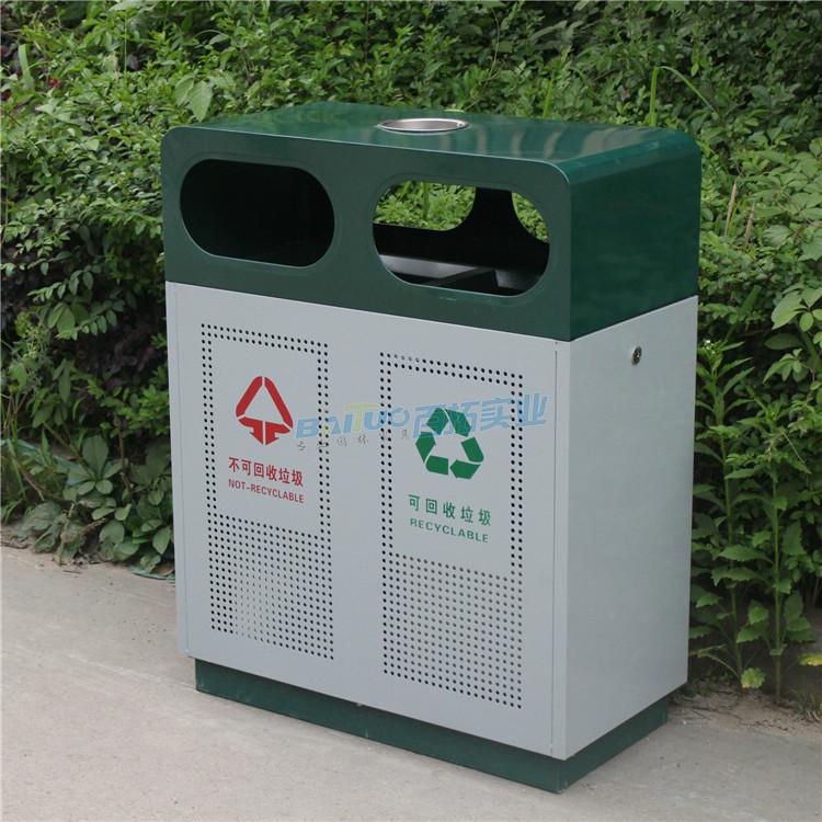 火車站戶外垃圾桶實物圖
