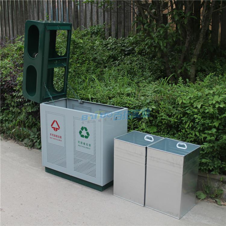 火車站戶外垃圾桶內部結構圖