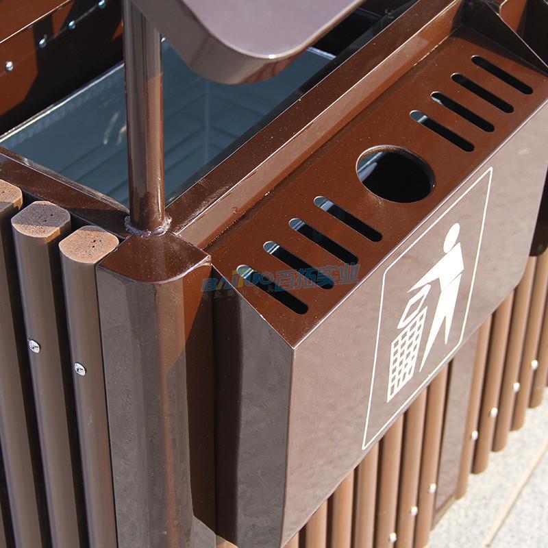 室外景观垃圾桶细节图