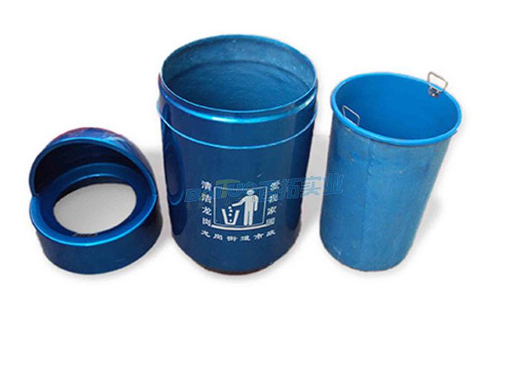 戶外玻璃鋼垃圾桶結構圖