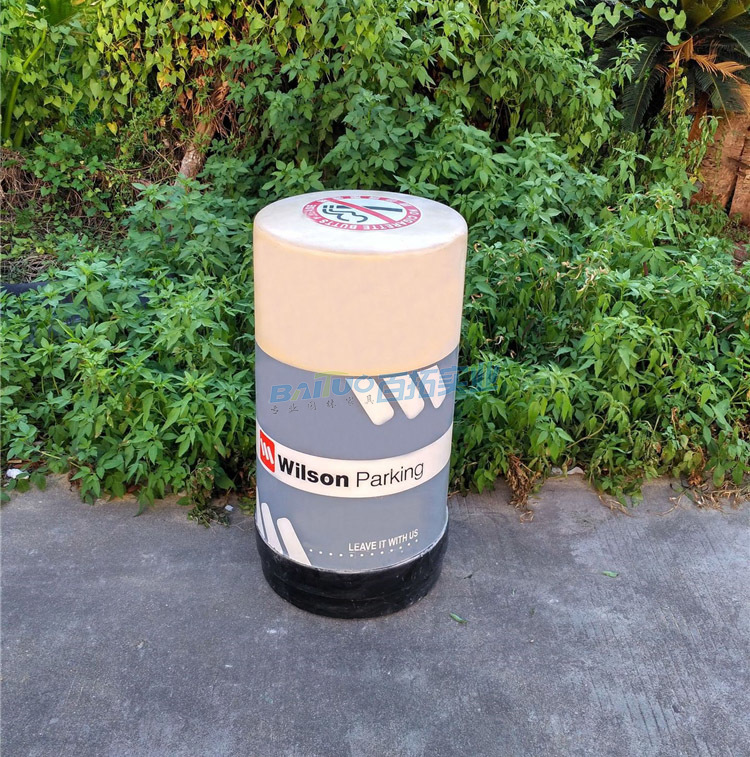 小区户外垃圾桶背面图
