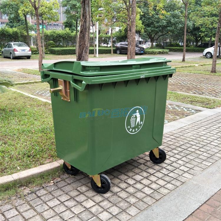 塑料垃圾桶户外街道展示图