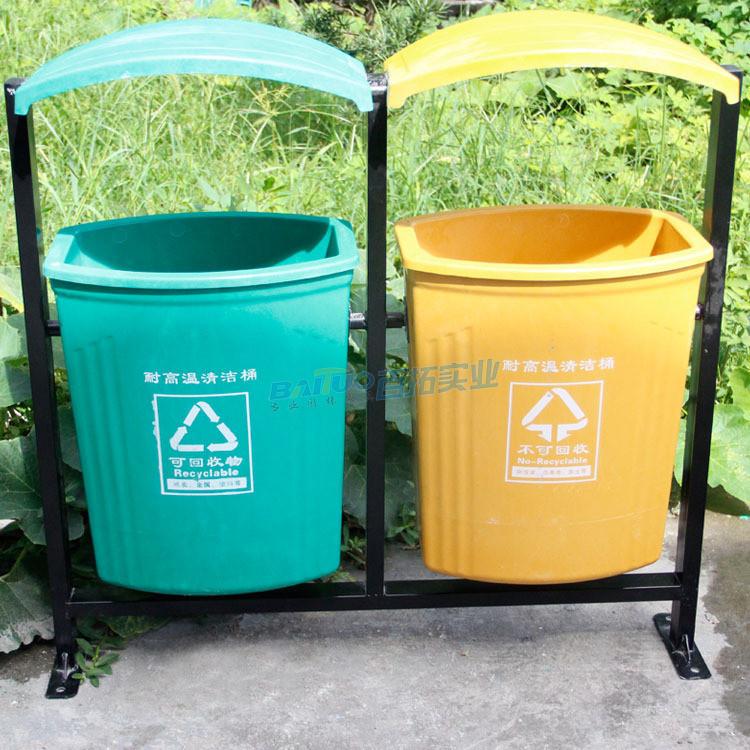 户外专用垃圾桶有单桶双桶可供选择