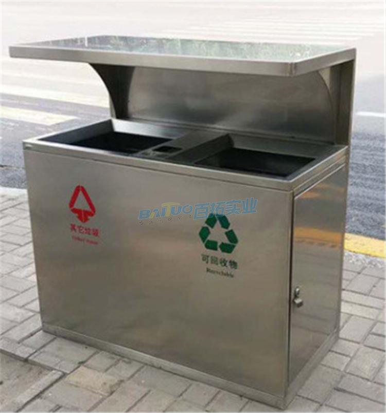 定制不锈钢垃圾桶小区户外