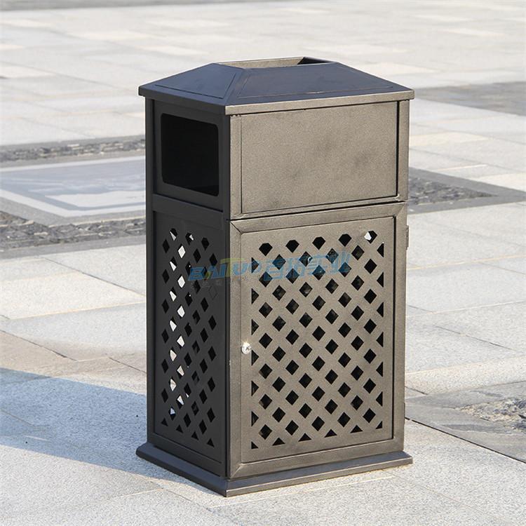 欧式铁艺户外垃圾桶