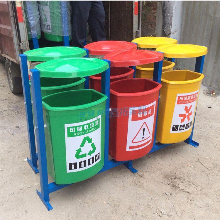 广东户外玻璃钢垃圾桶多种款式可选择