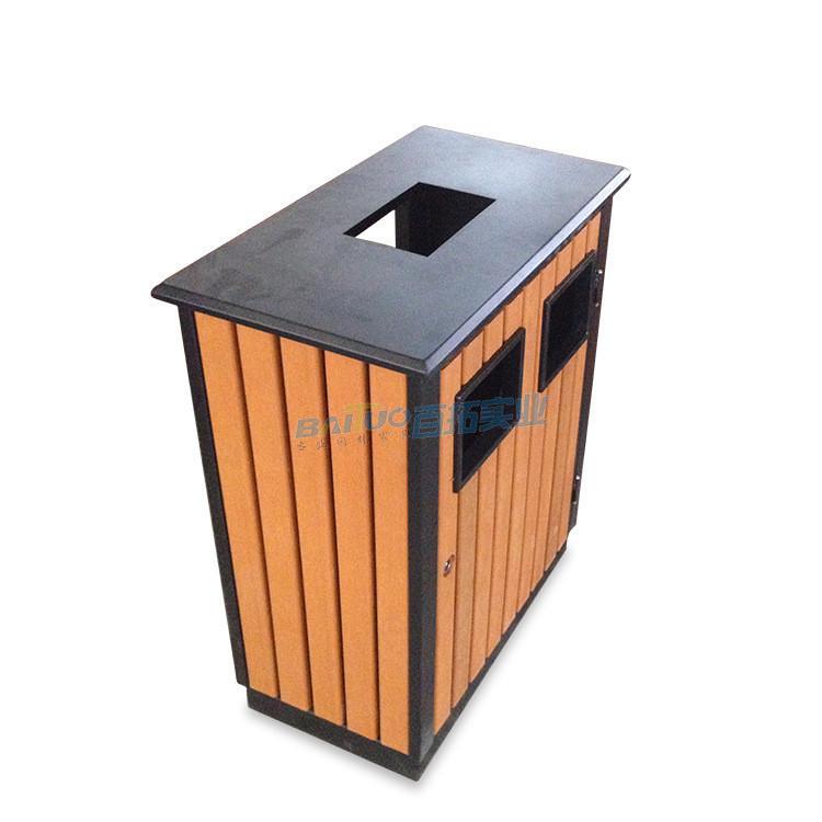 适用于学校的垃圾桶顶部细节图