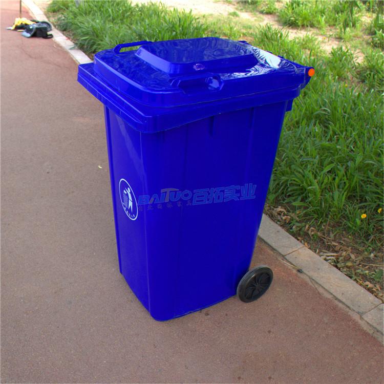 学校户外垃圾桶侧面图