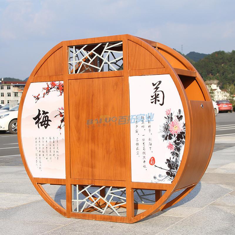 景区户外垃圾桶正面展示图