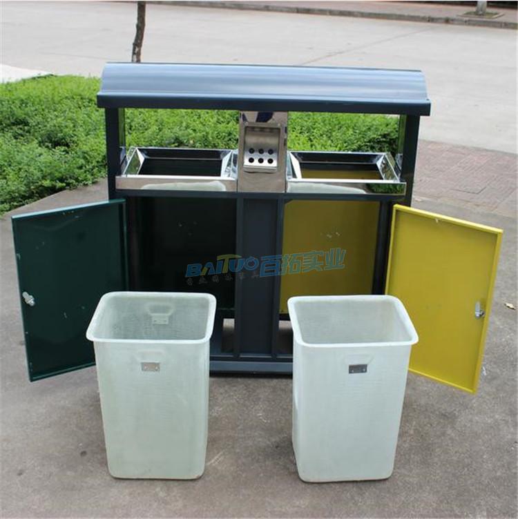 环保室外垃圾桶结构图