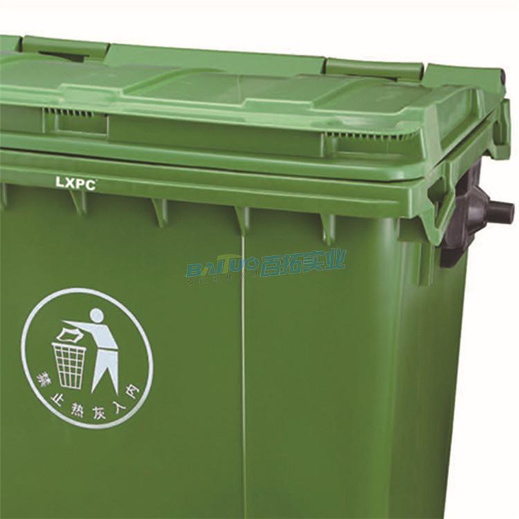 环卫专用垃圾桶户外细节图