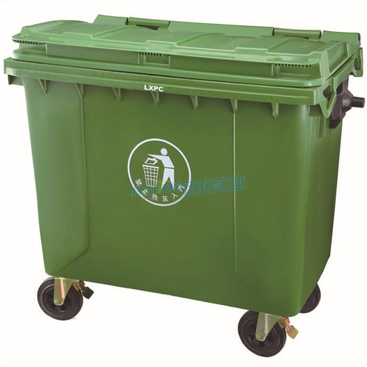 环卫专用垃圾桶户外展示图