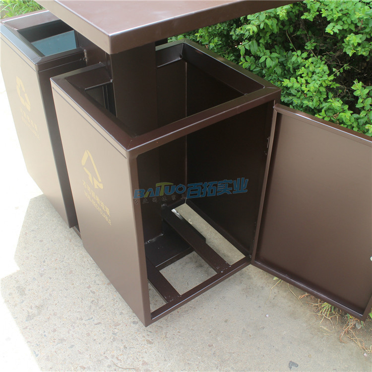 高档室外垃圾桶结构图