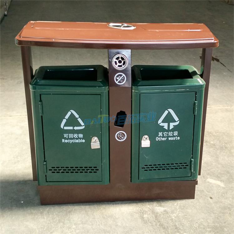 小区垃圾桶放置正面展示图
