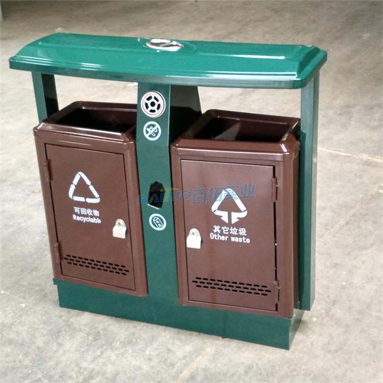 小区垃圾桶放置实物图