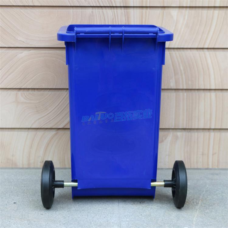 户外垃圾桶 360l背面展示图