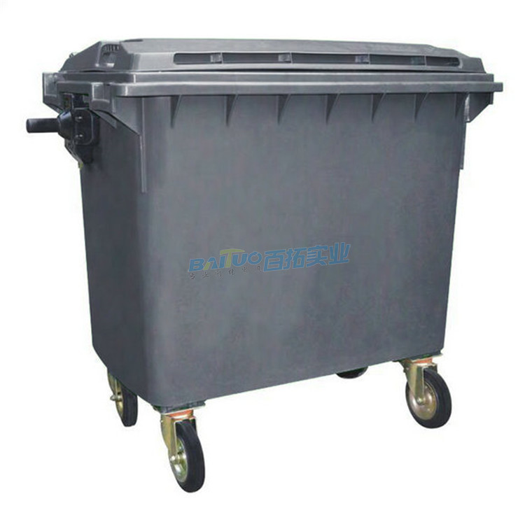 户外超大垃圾桶背面图片