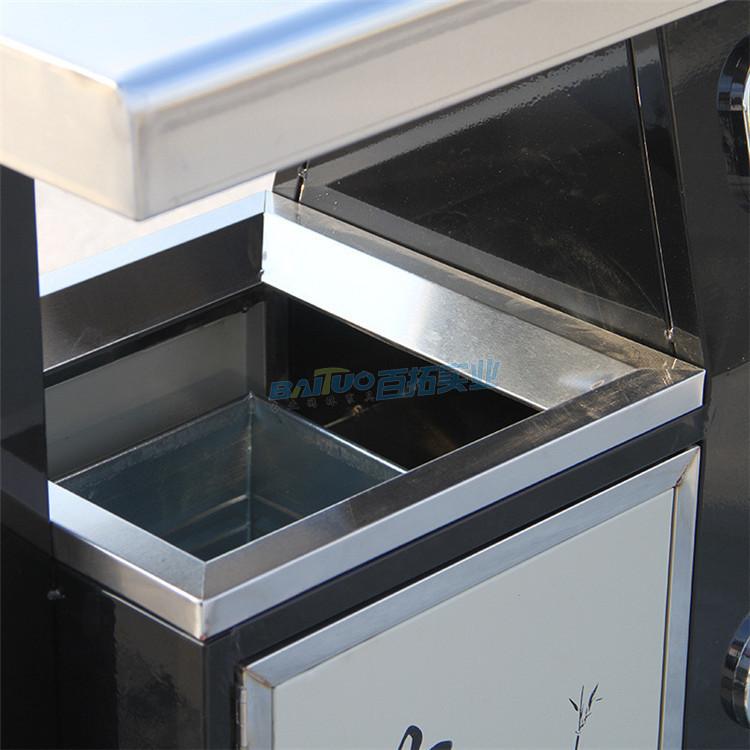 户外灭烟垃圾桶桶口细节图