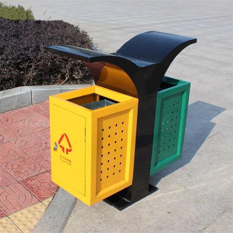 铁艺户外垃圾桶