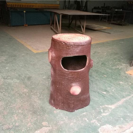 户外仿古木制垃圾桶