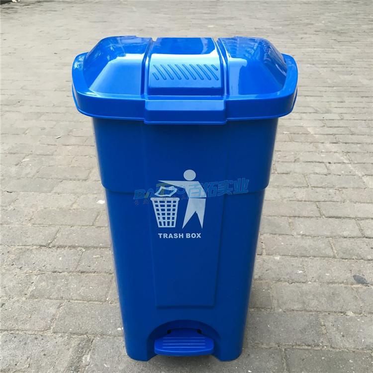 户外胶垃圾桶正面实物图