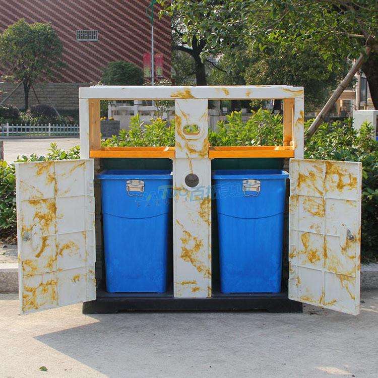 旅游景区垃圾桶结构图