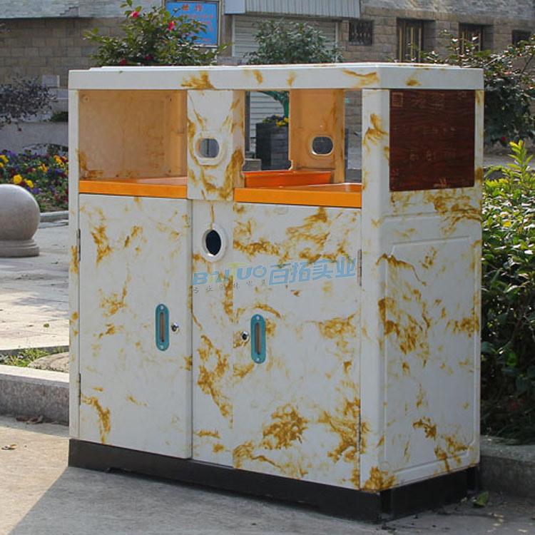 旅游景区垃圾桶侧面图