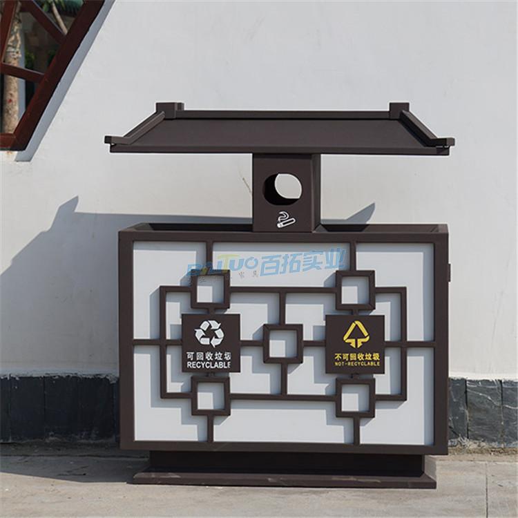 景区的垃圾桶展示图