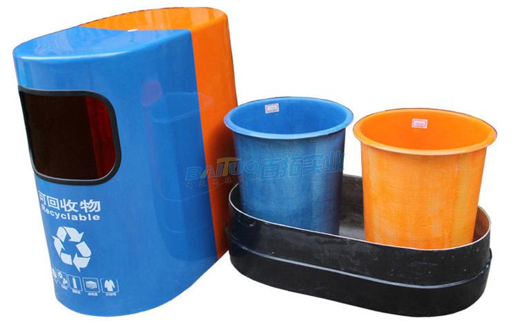 公园小品垃圾桶结构展示图