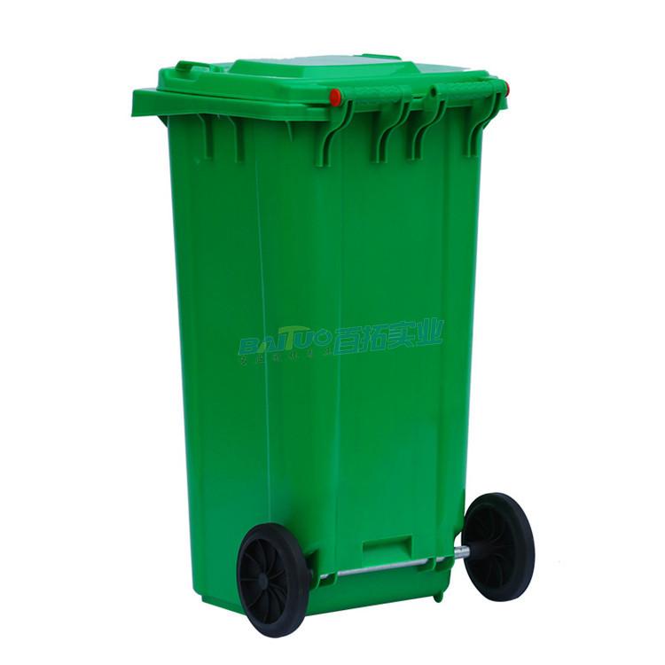 校园移动垃圾箱背面图