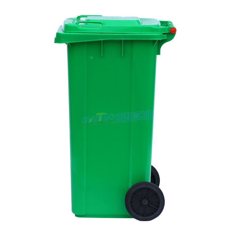 校园移动垃圾箱侧面图