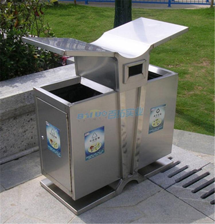 街道垃圾桶展示图