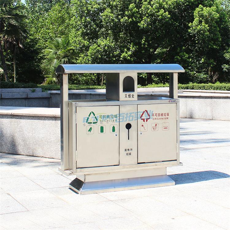 公园室外垃圾桶街道展示图