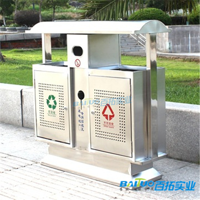 公共设施垃圾桶实物图