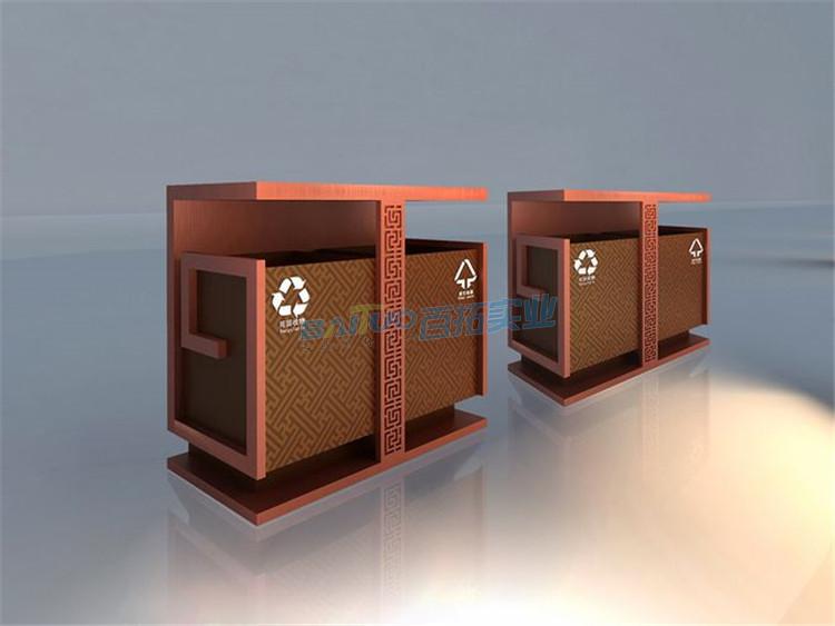公共设计垃圾桶展示图