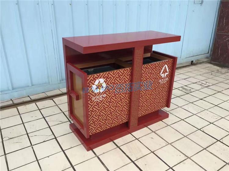 公共设计垃圾桶实物图