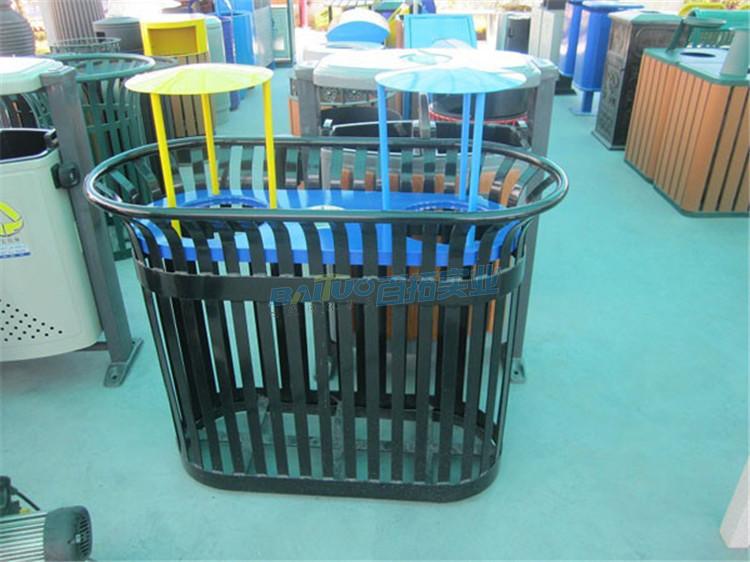 公园铁垃圾桶可根据需求定制