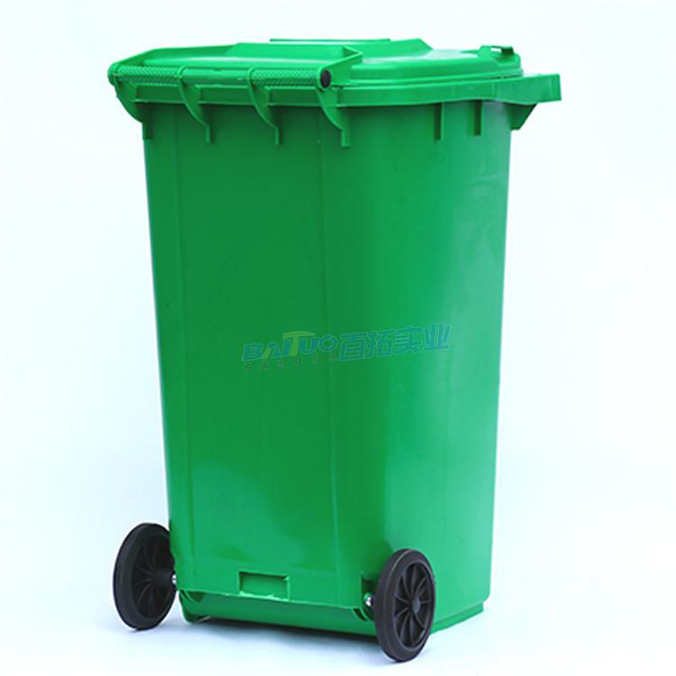 公园动物垃圾桶背面图