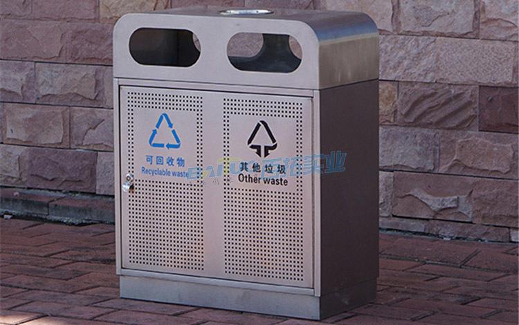大学校园环境垃圾箱实物图