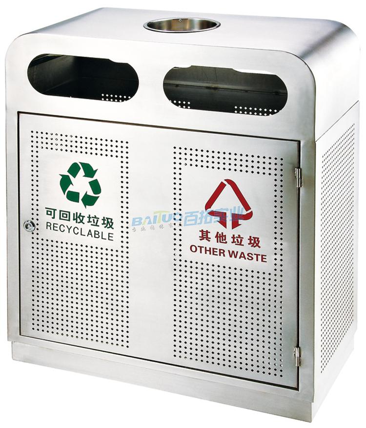 大学校园环境垃圾箱展示图