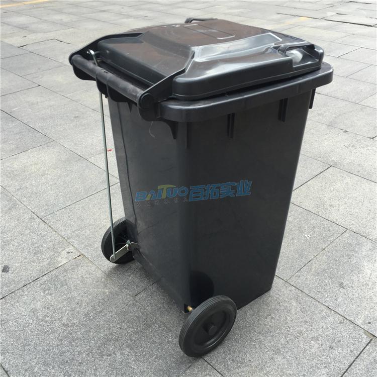 公共感应垃圾桶背面图
