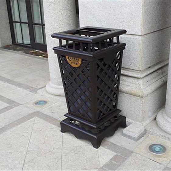 户外立式垃圾桶