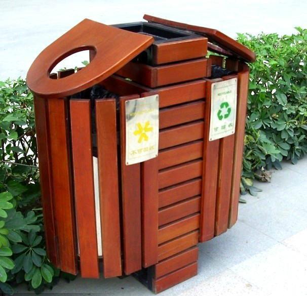 景区木质垃圾桶