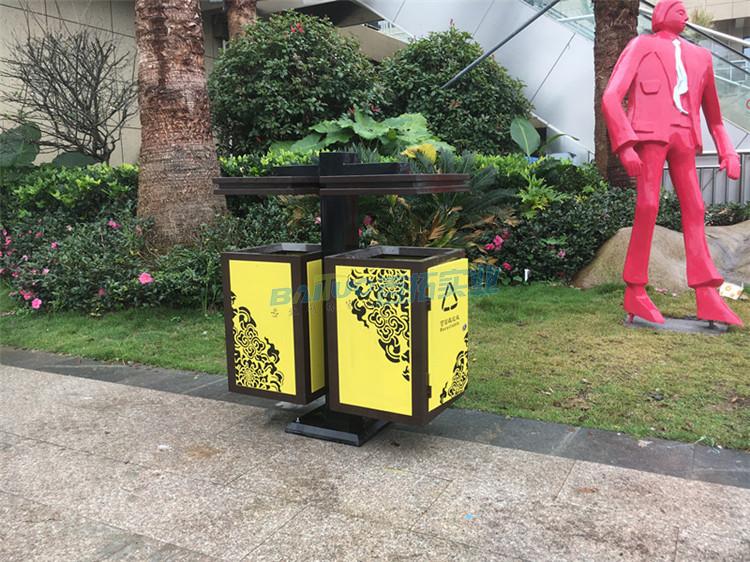 创意室外垃圾桶实物图